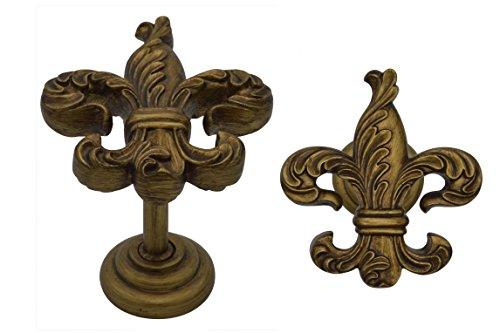 Urbanest Fleur de Lis Medallion Drapery Holdback, Set of 2, Renaissance - Holdback Lis
