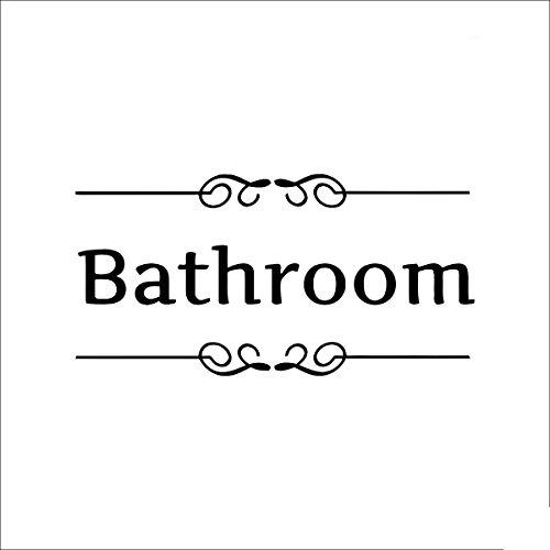 MONOMONO-Removable Waterproof WC Bathroom Toilet Door Decal Wall Sticker DIY Decor - Fox Mall Angeles Los