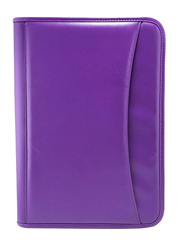 Executive Padfolio (Executive Padfolio With Built in 8.5 by 11 Notepad and Calculator: Holds Business Cards, Interview Resume,Checks-4 Color Options (Purple))