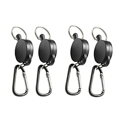 NATFUR 4pcs Retractable Keychain Steel Reel Recoil Key Ring Belt Clip Spring Pull Elegant for Women Cute Holder for Girls for Gift Novelty Great Beauteous Goodly : Garden & Outdoor