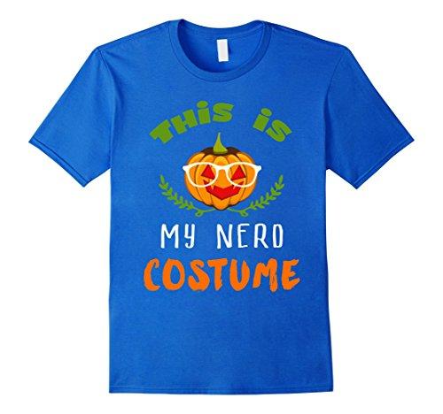Mens This Is My Nerd Pumpkin Halloween Costume Novelty T-Shirt XL Royal Blue