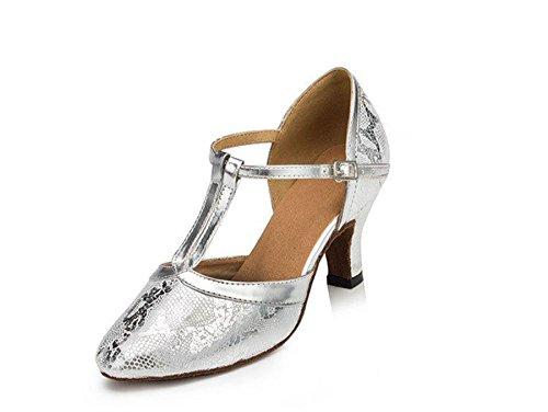 Glitter TDA T Dance Modern Strap Rumba LD033 Wedding Latin Samba Shoes Silver Womens OwwqSCH