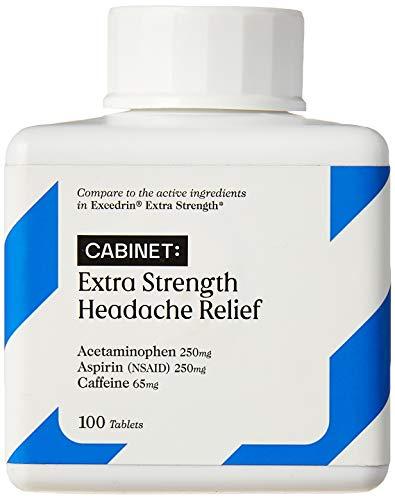 Cabinet Extra Strength Headache Relief Caplets (100-Count) Acetaminophen, Aspirin, Caffeine | Nonsteroidal Anti-Inflammatory Pain Reliever | Arthritis, Muscles, Joints
