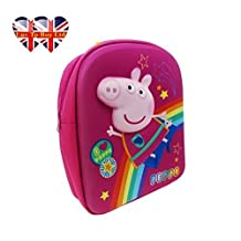 Children's Peppa Pig 3D Cosmic Back Pack (Pink)