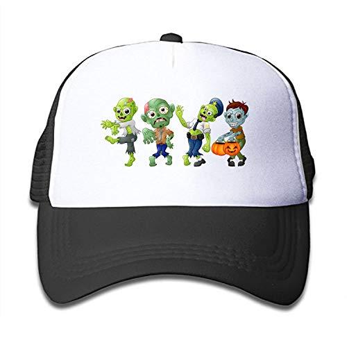 HHNYL Boys Girls Zombie Cartoon Halloween Trucker Hat