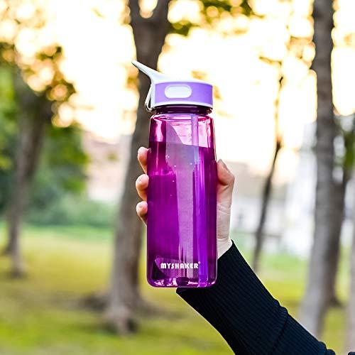 MYSHAKER Water Bottle,Sports Water Bottle,Water Bottle With Straw,Plastic Water Bottle,Sipper Water Bottle,Camping water bottle,Water Bottle For Kids,Bike,Travel,Bicycle,Gym,Cycling 28oz BPA Free800ML