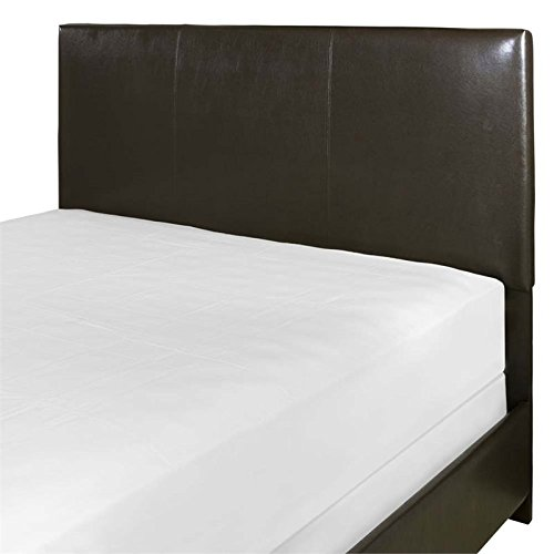 Crosley Furniture CF90002-601BR Drake Faux Leather Headboard, King/Cal King - Brown Leatherette