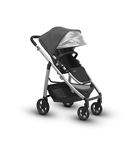 2018 UPPAbaby Cruz Stroller -Jordan Charcoal Melange Silver Black Leather