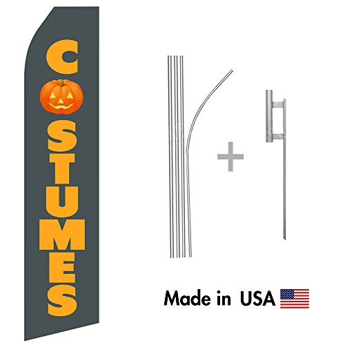 Halloween Costumes Econo Flag | 16ft Aluminum Advertising Swooper Flag Kit with Hardware]()