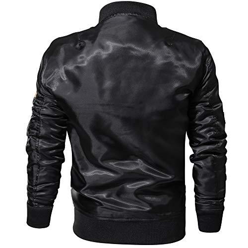 Vestes Automne Noir Homme Thermique Osyard Chaud Doublure Protections Blouson Léger Moto Motard qEFx1PSxn8