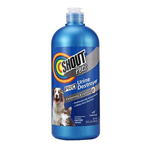 Shout Pets Pro Strength Urine remover Carpet Cleaner for Pets in Fresh Scent   Urine Remover Carpet Cleaner for Cat and Dog Urine Stains and Odors on Carpet & Upholstery, 32oz Bottle