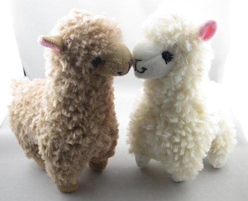 2pcs Cute Alpaca Plush Toy Camel Cream Llama Stuffed Animal Kids Doll 23cm Height