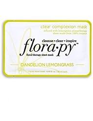 Florapy Beauty Clear Complexion Sheet Aromatherapy Mask, Dandelion Lemongrass