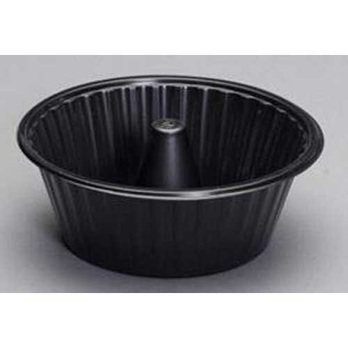 Genpak Black Angel Food Cake Tray, 8 inch -- 200 per case.