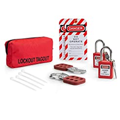 TRADESAFE Lockout TAGOUT KIT w/ 2 Hasps,...