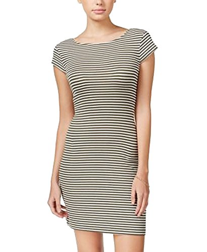 Teeze Me Womens Juniors Cross-Back Striped OliveCream XL]()