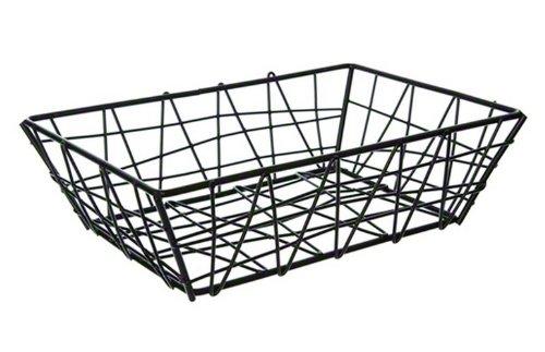 - American Metalcraft BZZ95B Small Rectangular Metal Wire Zorro Bread Basket, 9