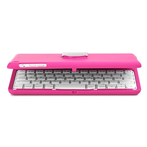 iNNEXT Aluminum 360 Swivel Rotating Stand Case Cover Built-in Bluetooth Keyboard for ipad Mini 1 2 3 with Retina Display (Hot Pink) by iNNEXT (Image #4)'