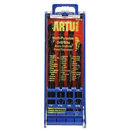 ARTU USA 01510 7-Piece Multi Purpose Drill Bit Set