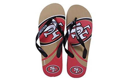Forever Collectibles Happy Feet Heren En Dames Officieel Gelicentieerd Groot Logo Flip Flops San Francisco 49ers