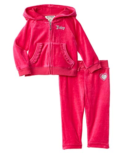 - Juicy Couture Girls' Big 2 Pieces Jog Set-Velour, Assorted, 8/10