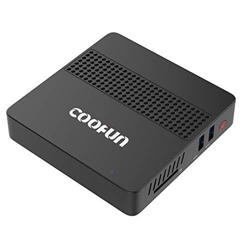 COOFUN Desktop Mini PC Intel Celeron J3455 Processor (up to 2.3GHz),8G LPDDR4/SSD 128GB Windows 10 HDMI&VGA Display 2.4G…