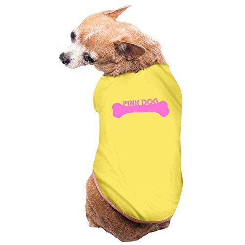 ZULA Funniest Pink Dog Dog Shirt Yellow Size L