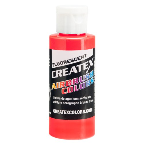2 oz. Bottle of Fluorescent Red #5408 CREATEX AIRBRUSH COLORS Hobby Craft Art PAINT
