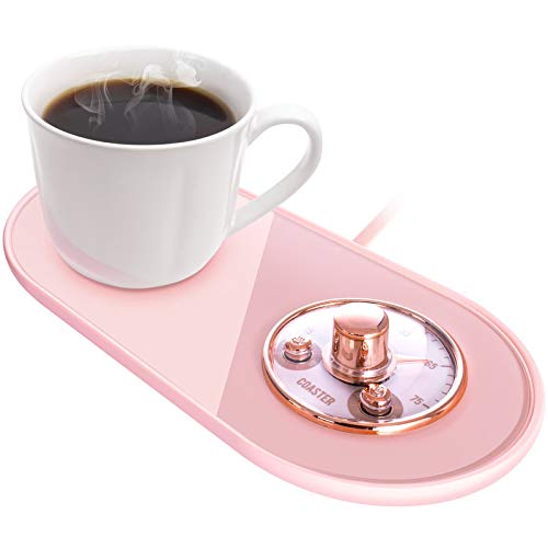 Coffee Mug Warmer,Adjustable Temperature Smart Coffee Warmer Plate for Office Home Desk with Automatic Shut Off and On,Coffee Cup Warmer for Coffee, Milk,Tea, Water(Without Cup),(Pink)