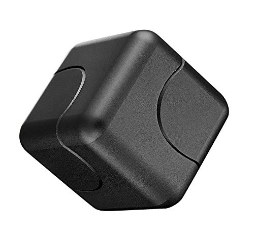 Capital Wireless Aluminum Square Box Spincube Dice Focus Edc Adhd Toy Us Seller  Black