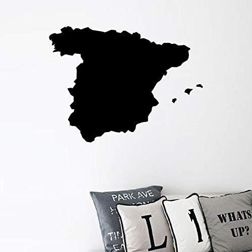 Mapa de España Silueta de Vinilo Etiqueta de Arte Inicio ...