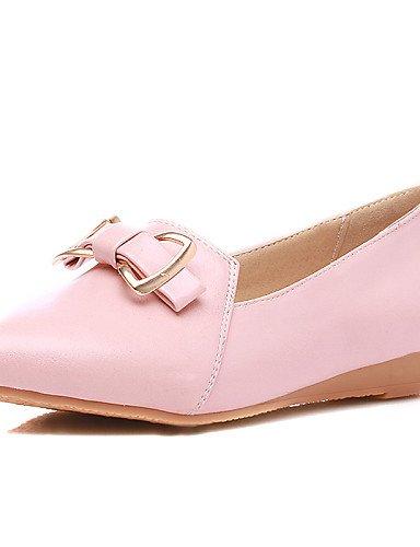 ZQ gyht Zapatos de mujer-Tacón Cuña-Cuñas-Mocasines-Casual-Semicuero-Azul / Rosa / Blanco , pink-us8 / eu39 / uk6 / cn39 , pink-us8 / eu39 / uk6 / cn39 white-us8 / eu39 / uk6 / cn39