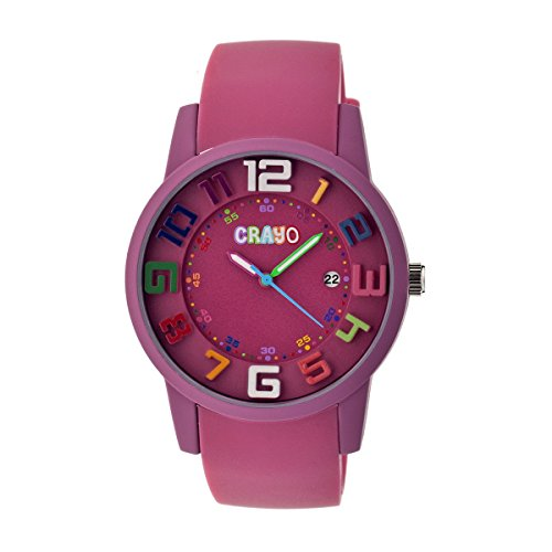 crayo-womens-cr2005-festival-fuchsia-silicone-watch