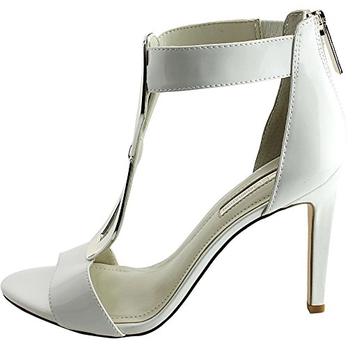 Bcbgeneration Cayce Hardware Ankle-strap Pumps (6.5 Noi Donne, Bianco)