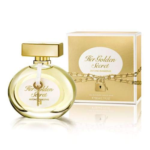 (Antonio Banderas Her Golden Secret EDT Spray for Women, 2.7 Ounce)
