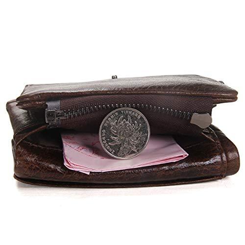 Pli Trésorerie Bourse Paquet Brown Crazy Horse De Porte Portefeuille Triple Cuir Homme Hinyyee Amovible fonction monnaie Multi x4FzBnzC