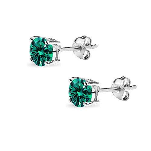 Buy swarovski green earrings large