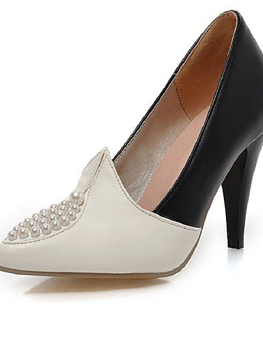 BGYHU GGX/Damen Schuhe PU Sommer/spitz Toe Heels Büro & Karriere/Casual Stiletto Heel Nachahmung Pearl Rot/Weißred-us7.5 / eu38 / uk5.5 / cn38