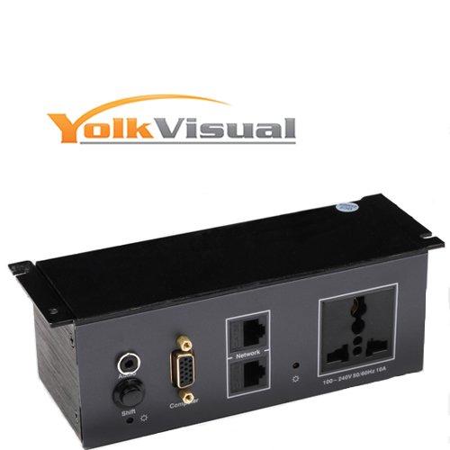 YolkVisual Under Table Connectivity Box No Table Cut Needed Buy - Table connectivity box