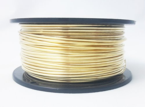 1 Ounce (49 Ft) Solid Red Brass Wire 24 Gauge, Round, Dead Soft - from Craft Wire Solid Brass Wire