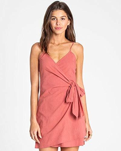 Billabong Women's Island Wrap Dress, red Clay ()