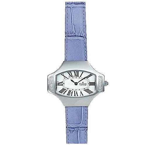 Charmex L's Strap Watch 5809 40x31.5mm Stainless Steel Case Purple Calfskin Synthetic Sapphire Women's Watch