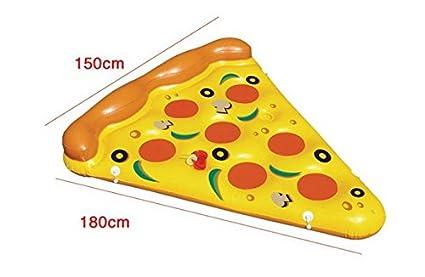 LLCP Flotador Inflable De La Pizza del Agua del PVC, Productos Acuáticos Adultos Atracciones De