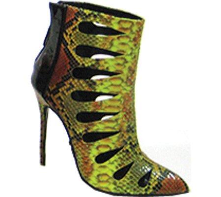 Highest Women's Green Fierce Python Patent PU 6 US Heel Bootie Snake 31 M 1qxHwpOT14
