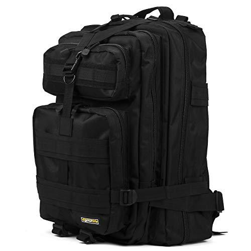 Eyourlife Military Tactical Backpack Small Rucksacks Hiking Bag Outdoor Trekking Camping Tactical Molle Pack Men Tactical Combat Travel Bag 20L (Bag Fishing)