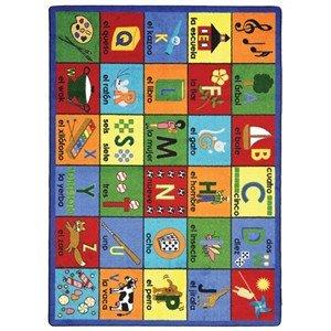 Joy Carpets Educational Bi-lingual Phonics Kids Rug Rug Size: 7'8