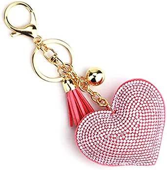 حامل مفاتيح نسائي لون احمر شكل قلب
