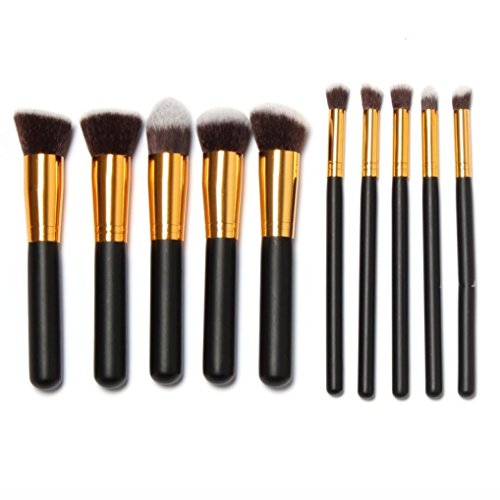 12pcs Makeup Brush Set+ Sponge (Pink+Rose Gold) - 7