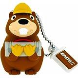 "EMTEC USB Flash Drive 8GB Stick 2.0 Animalitos 2 Forest Animals "" Building Beaver "" 3D Design - M 338"
