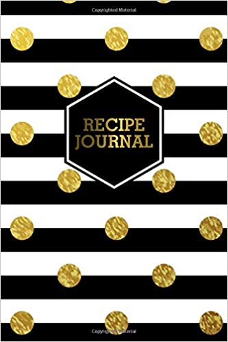 Recipe Journal Golden Polka Dots Blank Recipe Journal Book to Write In Favorite Recipes and Notes Cute Zig Zag Empty Cookbook for Baking and Cooking Lovers for Recipes and Notes.